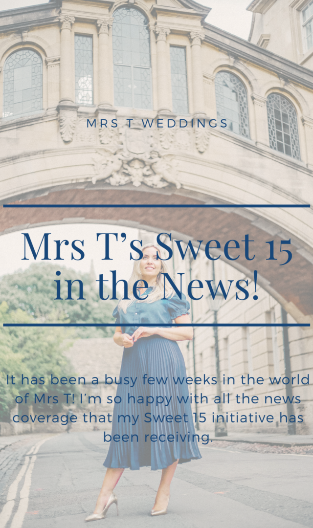Mrs T Weddings Sweet 15