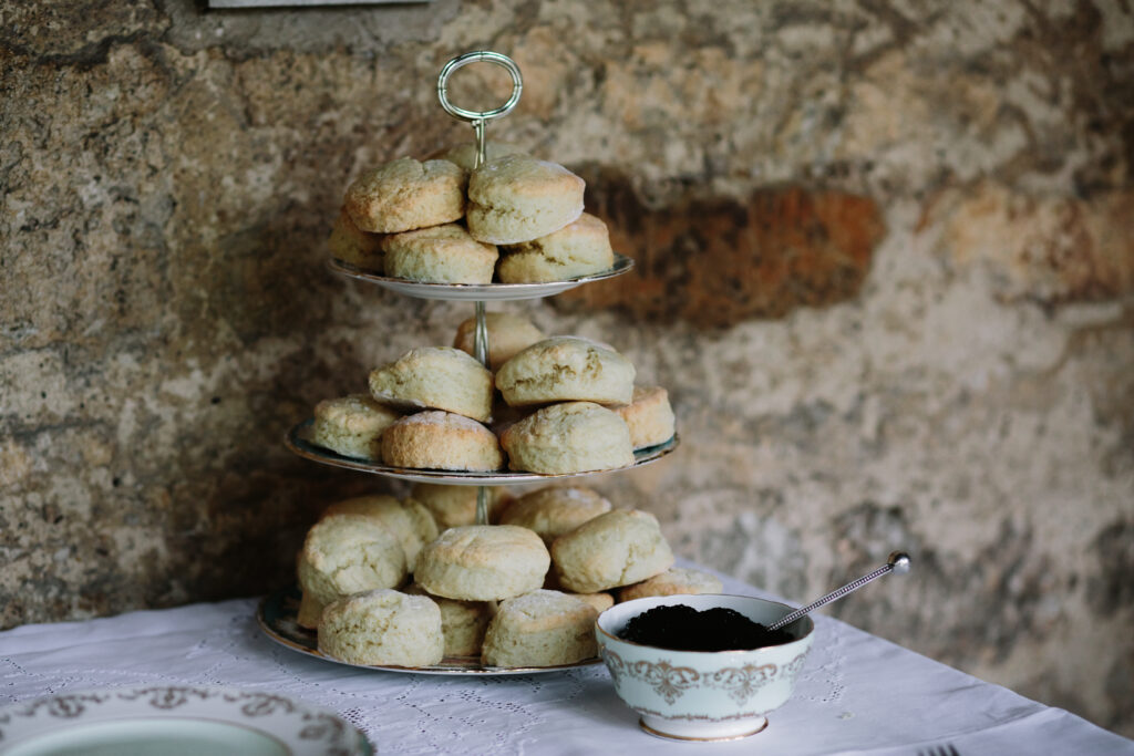 Wedding afternoon tea Scones and Jam