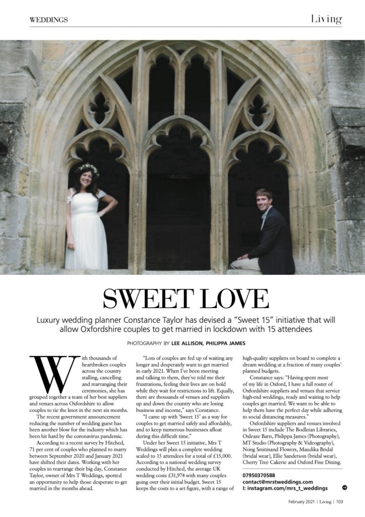 Living Oxfordshire Magazine - February 2021 issue page 103