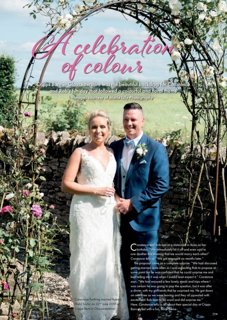 A Celebration of Colour - Constance & Rob's wedding day