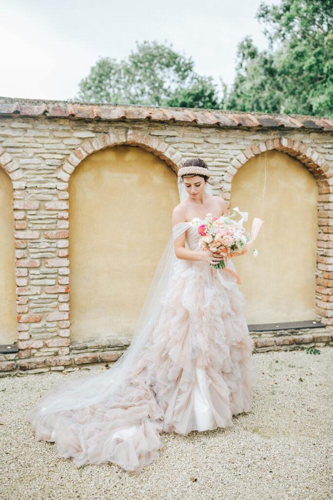 Kelly Faetanini bridalwear exclusively supplied by Ellie Sanderson.